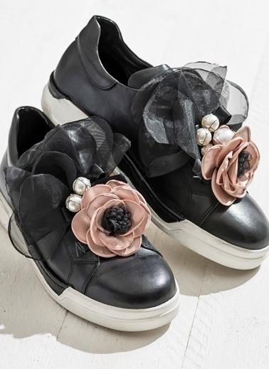 Elle %100 Deri Ayakkabı Siyah